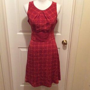 Girls from Savoy Dress 4 Red-Pink Plaid Sleeveless